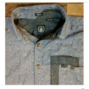 VOLCOM L/S DOBBY CHAMBRAY BUTTON DOWN Shirt